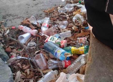 La zona Centro llena de basura