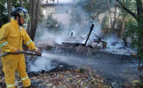 Bomberos sofocaron un incendio