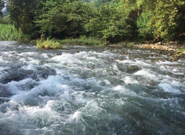 Río Tancuilín en su máximo esplendor