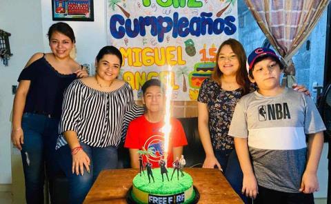 Miguel Rodríguez cumplió 15 años