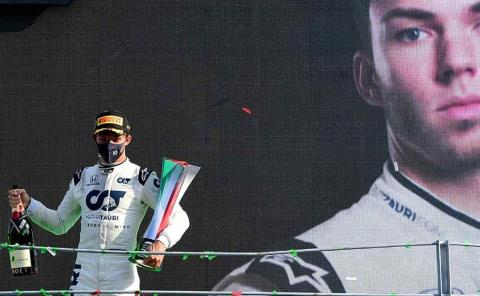 Pierre Gasly ganó el GP de Italia