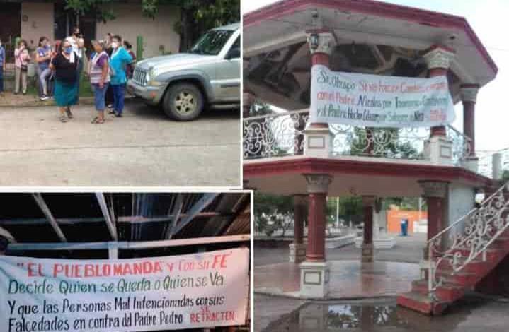 Protestaron en apoyo a padre