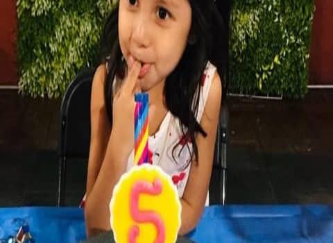 Hermosa lució la nena Frida Árale en su fiesta