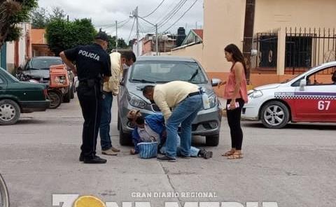 Mujer atropelló a un ancianito