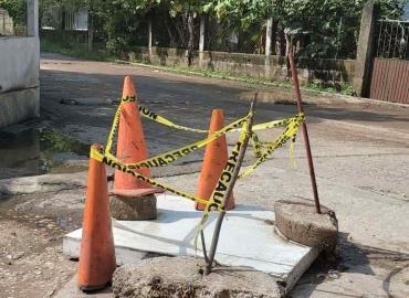 Obras Públicas atendió obstrucción de drenaje
