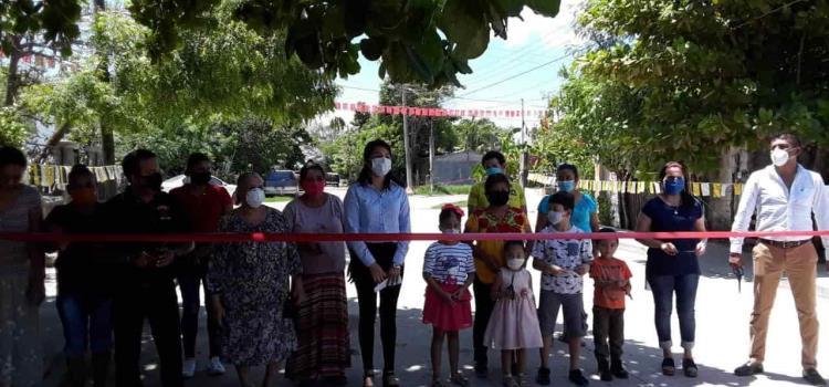 Pavimentaciones inaugura Alcaldesa