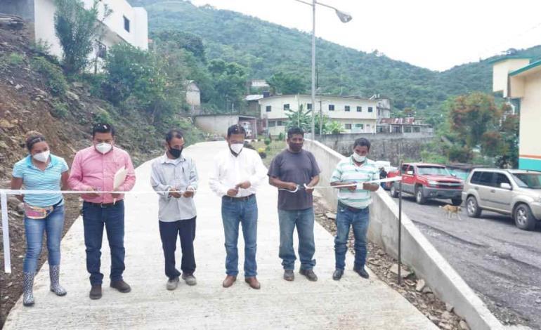 Familias fortalecidas con pavimentación de calle