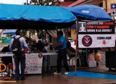 Captación de firmas campaña de Morena