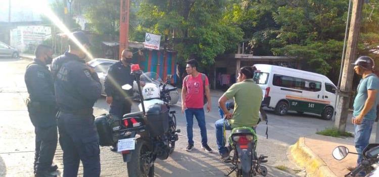 Persecución a motociclista
