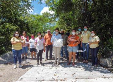 Inauguró Edil rampa comunal