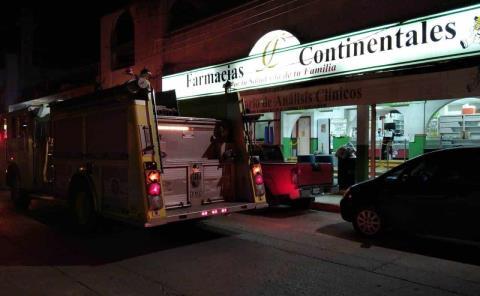 Conato de incendio en céntrica farmacia