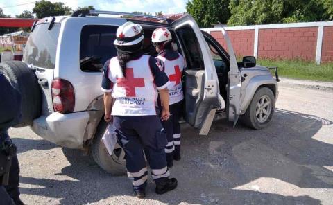 Dos lesionados en choque