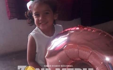3 años cumplió la nena Isamara
