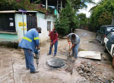 Reparan drenaje en la avenida PSL