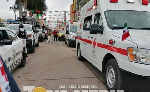 Cruz Roja participó en desfile patriótico