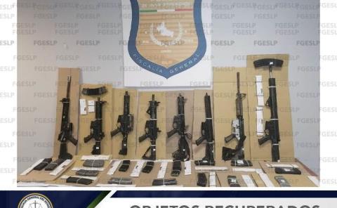 Confiscaron armas largas y cartuchos
