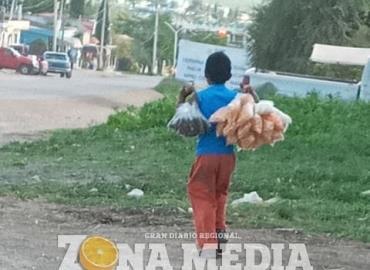 Niños obligados a trabajar en la calle