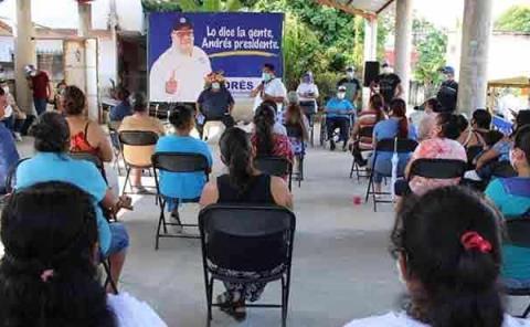 Población apoya a Andrés Espinosa