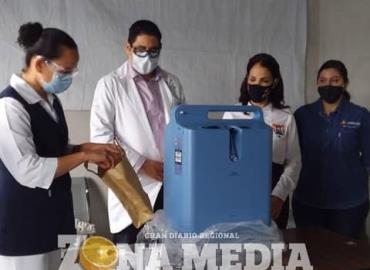 Mujeres con AUR donaron respirador