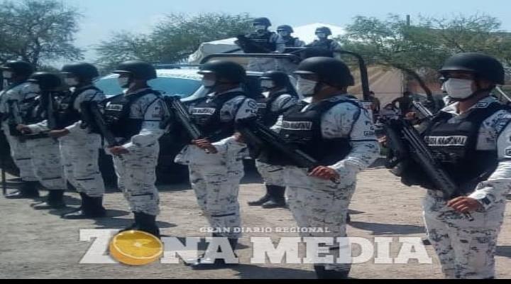 Imponente presencia de Guardia Nacional
