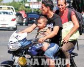 Motociclistas sin cascos