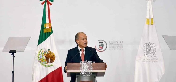 Presentó Juan Manuel Carreras su 5º Informe