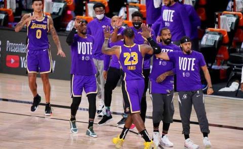 Lakers aparta lugar para finales NBA