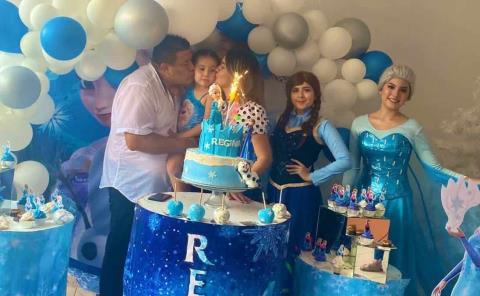 Festejo de Frozen para Regina Olalde