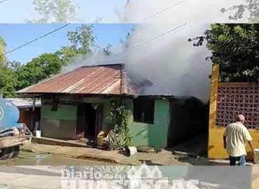 Incendio consumió humilde vivienda