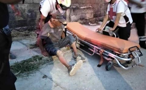 Pepenador atropellado por una veloz camioneta