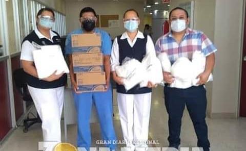 Enfermeros Rioverde donó equipo al hospital