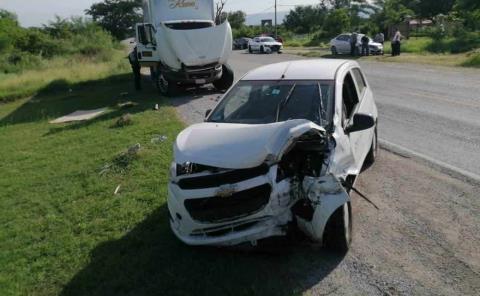 Se accidentó auto de Gobierno del Estado