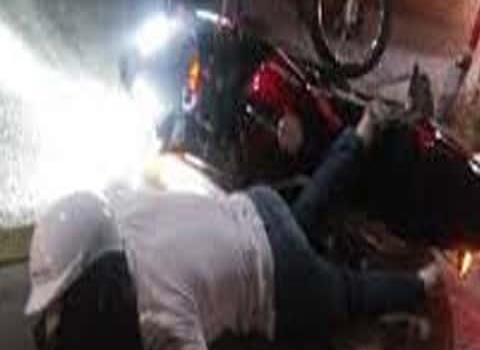 Motociclista sufrió derrape