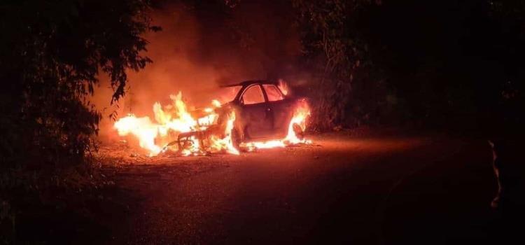 Se quemó camioneta