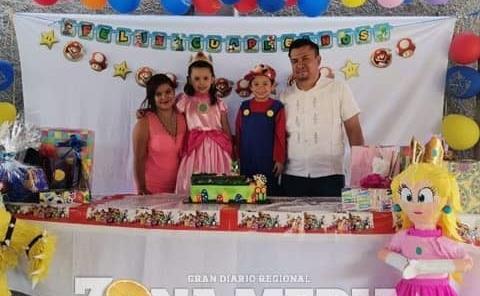Fiesta de Mario Bros para Romina y Román