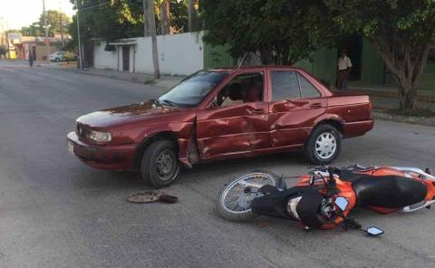 Chocó motociclista en la avenida PAS
