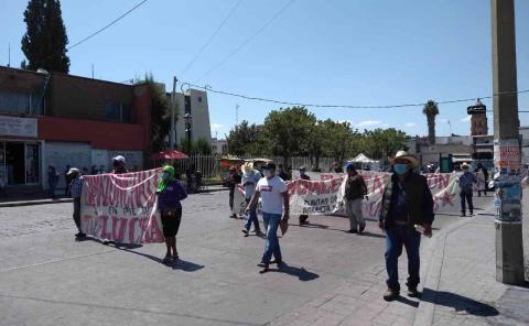 Protestó Antorcha en la capital de SLP