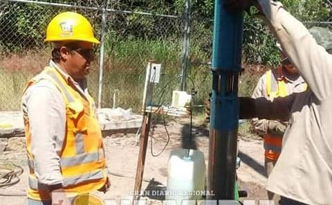 Restablecieron el agua en poblado