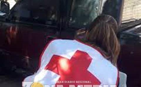 Mujer herida al caerse de moto