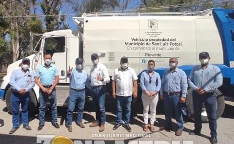 Edil recibió camión recolector de basura