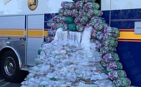 Incautaron carga de metanfetamina