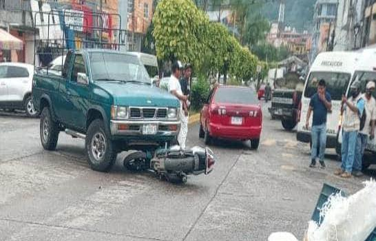 Atropellaron a motociclista