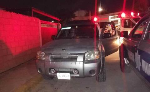 Mujer lesionada en un accidente