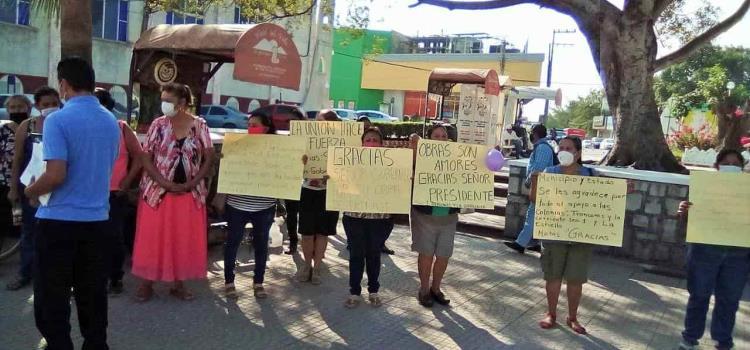 Manifestación en la Plaza Principal