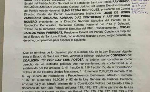 """Alianza PAN, PRI, PRD y PT busca el """"poder"""""""