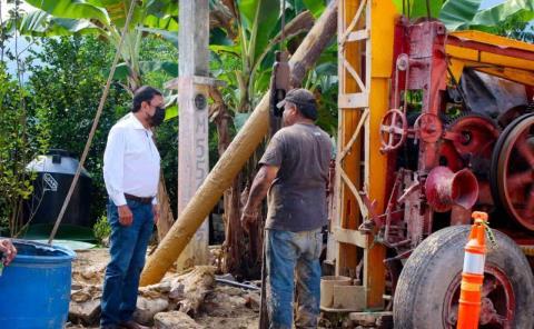 Avanza construcción de pozo profundo