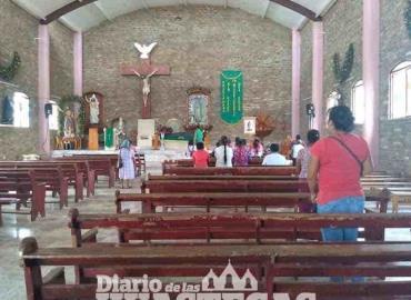 Poca gente asiste a las eucaristías