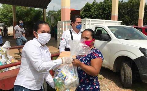 Iberdrola México entrega paquetes alimentarios