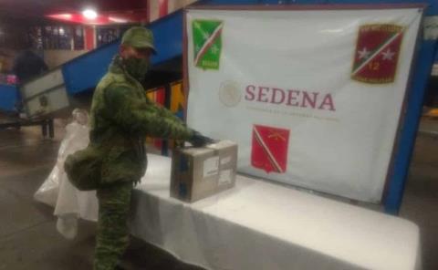 Personal militar asegura droga en dos eventos en Aeropuerto Internacional Ponciano Arriaga