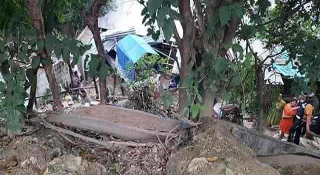 Familia a punto de  morir aplastada